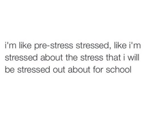 stress, school, and life image