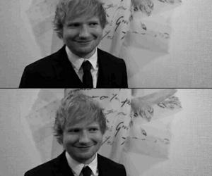 black and white, sheeran, and ed image