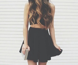 style, black, and girl image