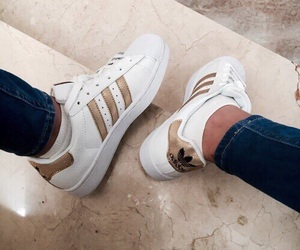 adidas, gold, and superstar image