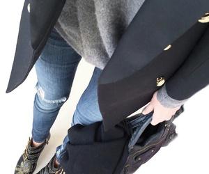 bag, clothes, and long coat image