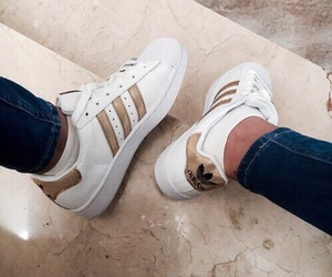 adidas, 'shoes', and 'gold' image