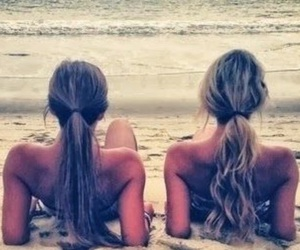 beach, besties, and summer image