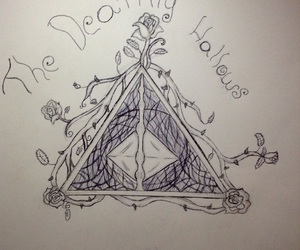 deathly hallows, draw, and harry potter image