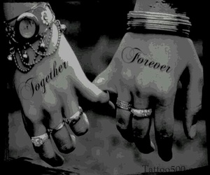 hands, love, and Tattoos image