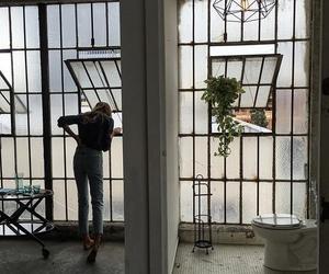 girl, window, and plants image