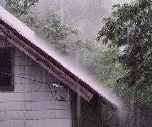 rain, house, and nature image