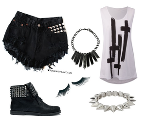 cross, goth, and shoes image