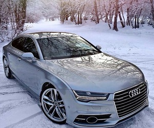audi, car, and winter image