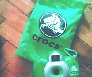 camera, crocs, and waterproof image