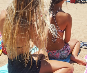 best friends, braiding, and inspiration image
