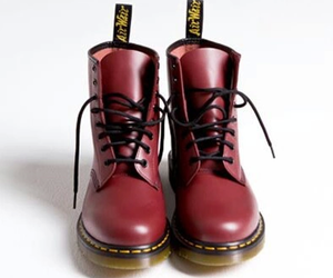 red, boots, and dr martens image