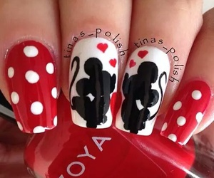 nails, disney, and minnie image