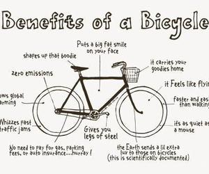 bicycle, bike, and benefits image