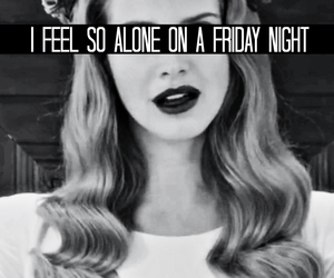 lana del rey, alone, and friday image