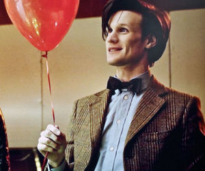 doctor who, matt smith, and balloons image