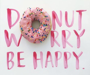 donuts, happy, and pink image