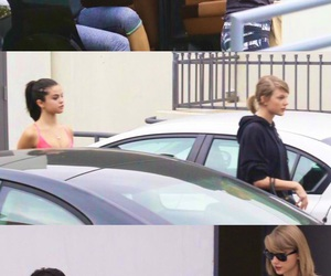 sel, selena gomez, and Taylor Swift image