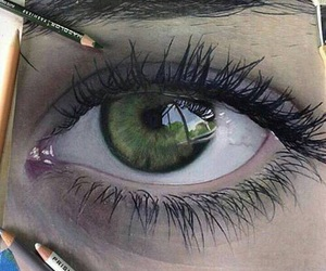 'eyes', 'green', and 'draw' image