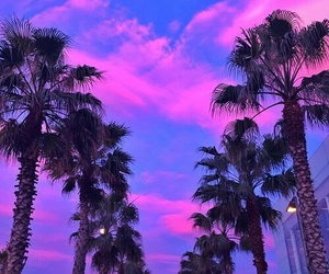 summer, sky, and pink image