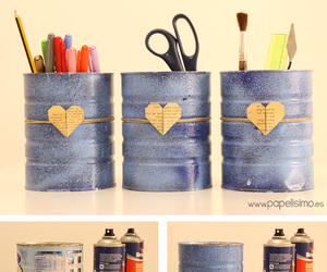 cans, diy, and latas image