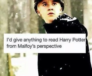 harry potter, draco malfoy, and book image