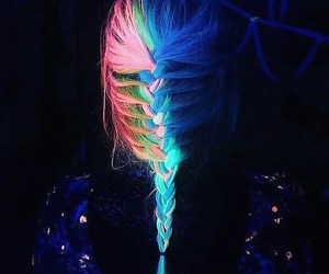 hair and neon image