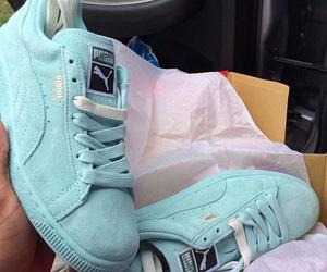 shoes, puma, and blue image