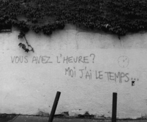 french, time, and wall image