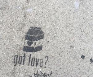 curb, sidewalk, and stencil image