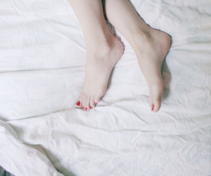 foot, girl, and white image