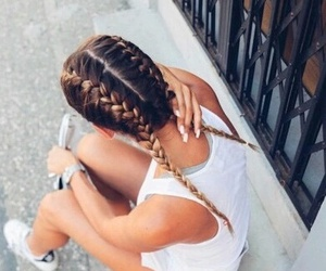 braids, fashion, and girl image