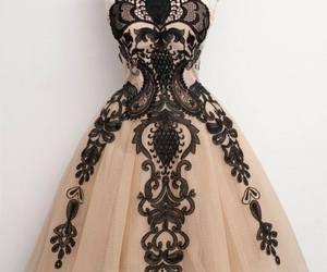 dress, black, and vintage image