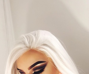hair, makeup, and eyebrows image