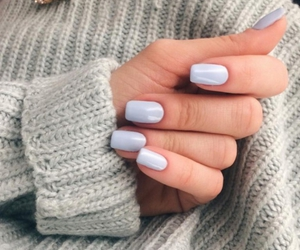 nails, manicure, and blue image