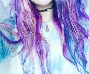 blue, color, and blue hair image