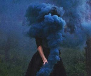 blue, smoke, and grunge image