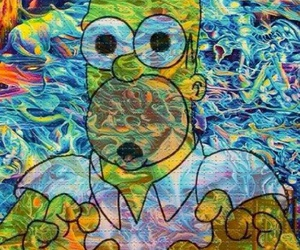 homer, simpsons, and lsd image