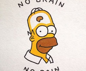 brain, pain, and thesimpsons image