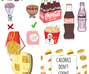 coke, Collage, and fastfood image