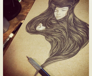 art, drawing, and girls image