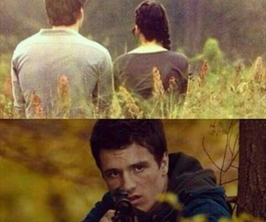 katniss, gale, and the hunger games image