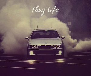 bmw, burnout, and smoke image