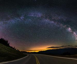 night and stars image