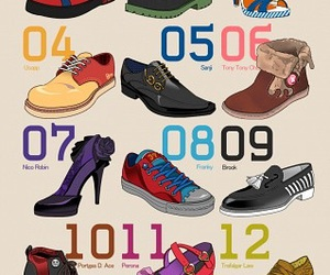one piece, shoes, and anime image