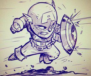 captain america, cartoon, and Marvel image