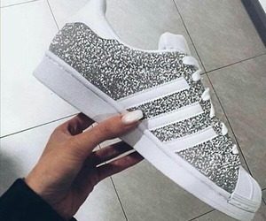 adidas, white, and trop belle image
