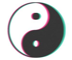tumblr, transparent, and ying yang image
