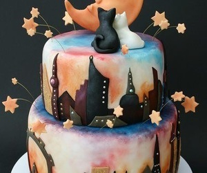 cake, cats, and city image