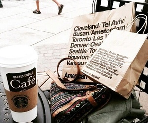 coffee, starbucks, and shopping image